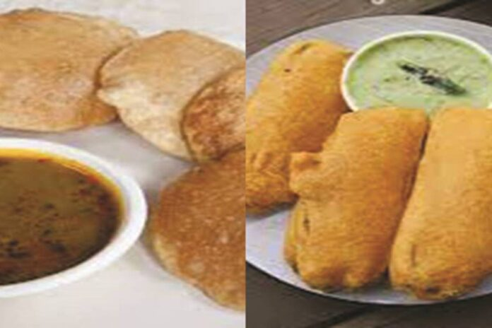 dana-pani bhandare potato vegetable and banarasi kachori banana bhajiya recipe method of preparation and ingredients
